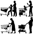 Supermarket shoppers vector image vector image