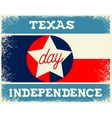 Texas Independence Day vector image