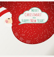 the red christmas card with santa claus vector image vector image