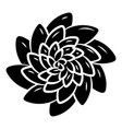 top view succulent flower icon simple style vector image vector image