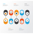 trade flat icons set collection of pie bar vector image vector image