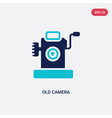 two color old camera icon from electronic stuff vector image vector image