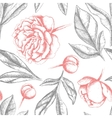 Vintage elegant pattern with peony flowers vector image vector image