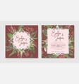 wedding invitation set beautiful greeting card vector image vector image