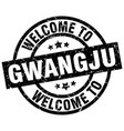 welcome to gwangju black stamp vector image vector image