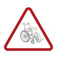 Wheelchair hand drawn vector image