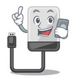 with phone hard drive in shape of mascot vector image vector image