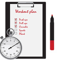 Workout plan vector image vector image