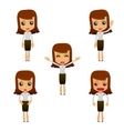set of funny cartoon businesswoman vector image