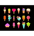 Collection of 17 ice cream vector image