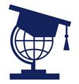 student icon globe icons vector image