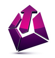 3d abstract symbol with an arrow Business growth vector image vector image
