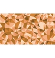 Abstract brown lowploly of many triangles vector image