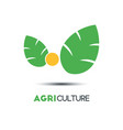 agriculture business logo template two green vector image vector image