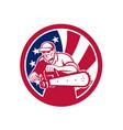 american lumberjack usa flag icon vector image vector image