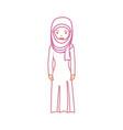 arab woman cartoon neon lines vector image vector image