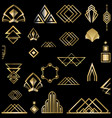 art deco template golden-black diy elements set vector image