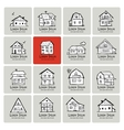 Art houses collection sketch for your design vector image vector image