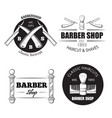barbershop logo set on white vector image vector image