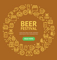 beer and oktoberfest signs round design template vector image