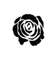 Black silhouette of rose vector image vector image