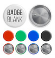 blank badges set realistic vector image vector image