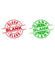 blank round stamps with unclean surface vector image vector image