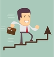 Businessman run in a Growth vector image