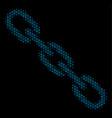 chain mosaic icon of halftone circles vector image