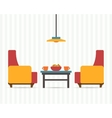 Chairs with small table vector image