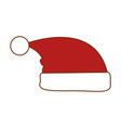 christmas hat decorative icon vector image vector image