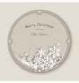 Christmas snowflakes Greteeng Card vector image vector image