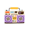 colorful hiphop boombox isolated on white vector image