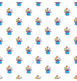 colorful magic hat and wand pattern vector image vector image