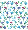 Colorful Spring Turkish Flowers Seamless vector image