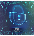 coputer internet cyber security background cyber vector image vector image