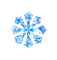 cute blue ice snowflake vector image vector image