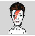 David Bowie Caricature Portrait vector image vector image