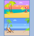 day and eve on tropical island summertime paradise vector image vector image