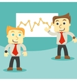 dialogue and business graph vector image vector image