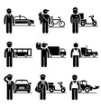driver delivery jobs occupations careers - taxi vector image vector image
