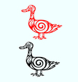 Duck ornate vector image vector image