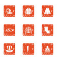 entertainment industry icons set grunge style vector image