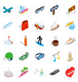 escapade icons set isometric style vector image vector image
