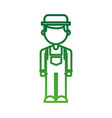 farmer in coveralls and hat character design vector image