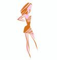fashion show stylized image a fashion model vector image