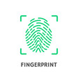 fingerprint of person poster with text vector image vector image