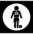 football soccer player icon vector image