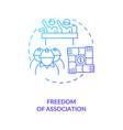 freedom association dark blue gradient concept