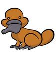funny cartoon platypus vector image vector image